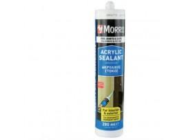 """Ακρυλικός Αρμόστοκος Γενικής Χρήσης Λευκός Morris 280ml """"16615"""""""
